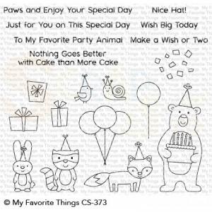 CS-373 My Favorite Things clearstempel, Birthday Bear & Friends