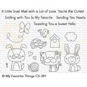 CS-381 My Favorite Things clearstempel, Cute Critters