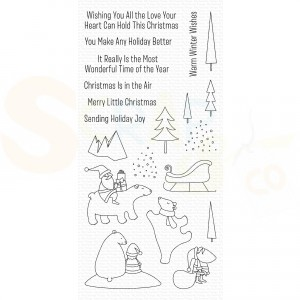 CS-429 My Favorite Things clearstempel, Merry Moments