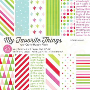 EP-72, My Favorite Things Paper pack 6x6 inch, Very Merry