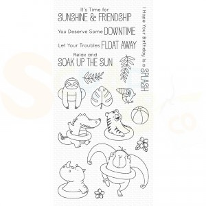 BB-73 My Favorite Things clearstamp, BB Sunshine & Friendship