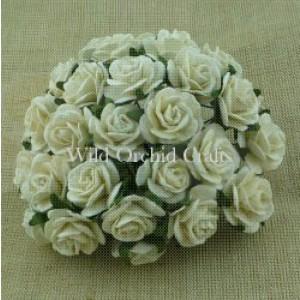 Bloemen roosjes ivory 15 mm MKX036