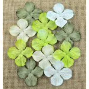 Bloemen mix green hydrangra 2,5 cm MKX688