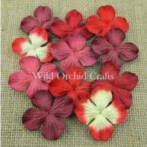 Bloemen mix red hydrangra 2,5 cm MKX689