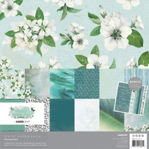 "Kaisercraft, paperpad 12x12"" PK605 Morning Dew"