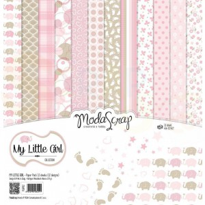 Elizabeth Craft Designs, paperpack MLGPP12, My Little Girl