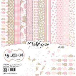 Elizabeth Craft Designs, paperpack MSC014, My Little Girl
