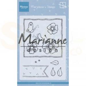 MZ1902 clearstamp Marianne Design, Marjoleine's anemone's