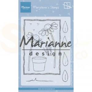 MZ1903 clearstamp Marianne Design, Marjoleine's daisies