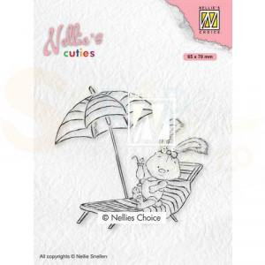 Nellie's Choice, clearstamp Cuties, Lena op Vakantie NCCS002