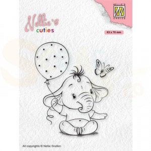 Nellie's Choice, clearstamp Cuties, Baby Olifant NCCS007
