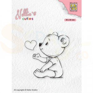 Nellie's Choice, clearstamp Cuties, Love you Mama NCCS009