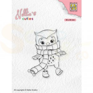 Nellie's Choice, clearstamp Christmas Cuties, Uil  NCCS013