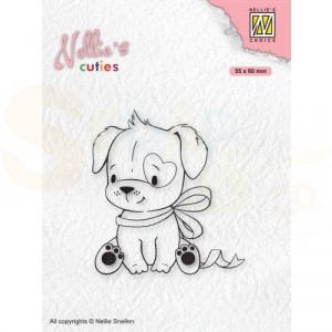 Nellie's Choice, clearstamp Christmas Cuties, Hond NCCS015