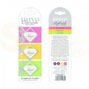 Nuvo Diamond hybrid ink pads, tropical fruits 80N