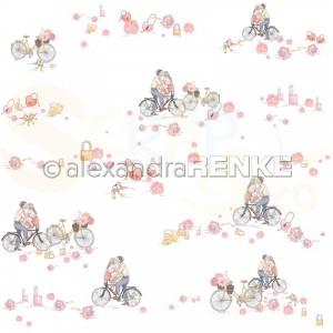 Alexandra Renke, designpapier 10.2277, Lovers on bicycles