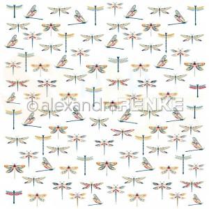 Alexandra Renke, designpapier 10.2340, Folk Art Dragonfly Rapport
