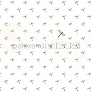 Alexandra Renke, designpapier 10.2341, Folk Art Dragonfly Swarm