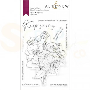 Altenew, clearstamp Paint-a-flower Camellia ALT4790