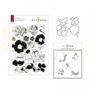 Altenew, stamp & die, & stencil, Peaceful Reverie