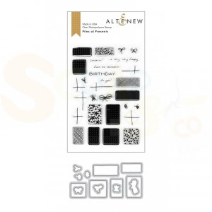 Altenew, stamp & die Piles of Presents ALT4018