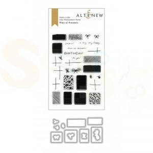 Altenew, stamp & die Piles of Presents ALT4018