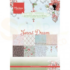 PK9158 Papierblok Marianne Design, Forest Dream