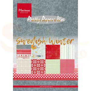 PK9159 Papierblok Marianne Design, Swedish Winter