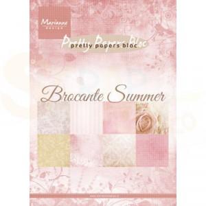 PK9166 Papierblok Marianne Design, Brocante summer