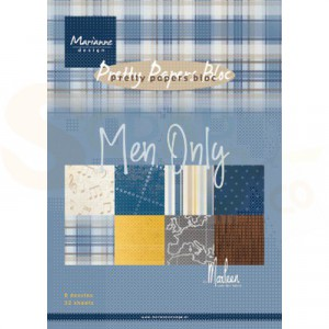 PK9169 Papierblok A4 Marianne Design, Men Only
