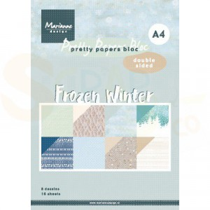 PK9172 Papierblok A4 Marianne Design, Frozen Winter
