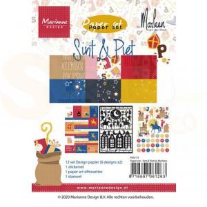 PK9173 Papierblok A4 Marianne Design, Sint & PIet