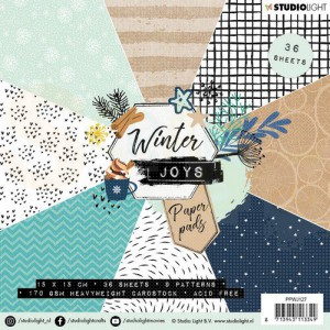 Studiolight, paper pad blok 15x15, Winter Joys PPWJ127