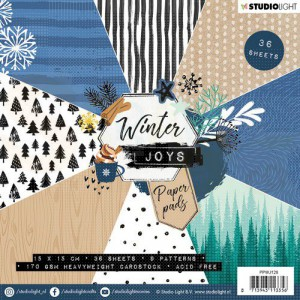 Studiolight, paper pad blok 15x15, Winter Joys PPWJ128