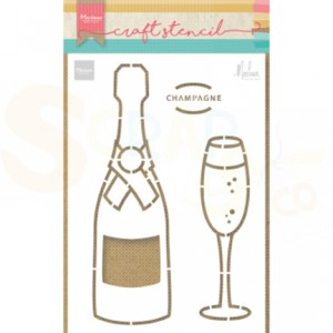 PS8051, Craft stencil Marianne Design, Champagne