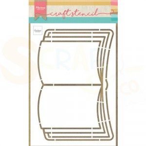 PS8061, Craft stencil Marianne Design, Open Boek