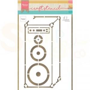 PS8062, Craft stencil Marianne Design, Muziek luidspreker