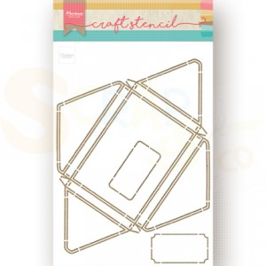 PS8071, Craft stencil Marianne Design, Envelope