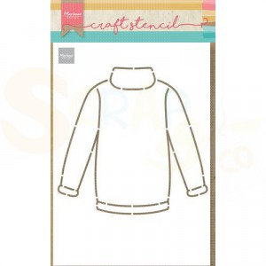 PS8076, Craft stencil Marianne Design, Sweater