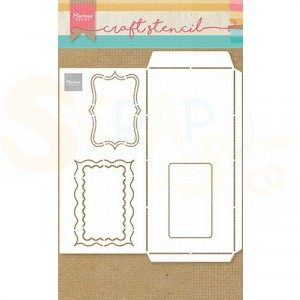PS8079, Craft stencil Marianne Design, Slimline Envelop