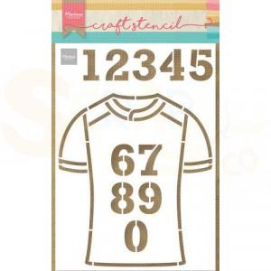 PS8087, Craft stencil Marianne Design, Team shirt