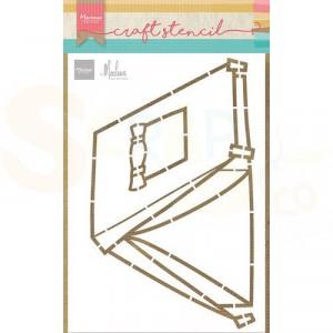 PS8088, Craft stencil Marianne Design, Tent