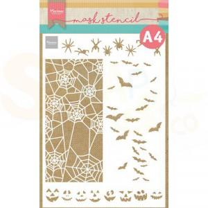 PS8108, Mask stencil A4 Marianne Design, Slimline Halloween