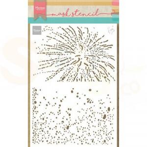 PS8109, Craft stencil Marianne Design, Tiny's Bubbels en sterretjes