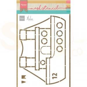 PS8110, Craft stencil Marianne Design, Stoomboot