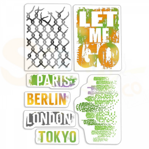 Ciao Bella, clearstamp Let me Go PSB6002