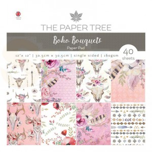 The Paper Tree, paperpad 12 inch, Boho Bouquets PTC1018