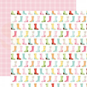 Echo Park Paper, Welcome Spring WES235003, Rain boots