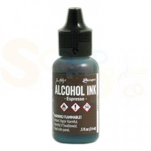 Ranger Alcohol ink 15 ml, espresso TIM22039