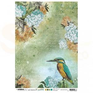 StudioLight, JMA ricepaper Kingfisher flowers New Awakening nr.05 JMA-NA-RICE05